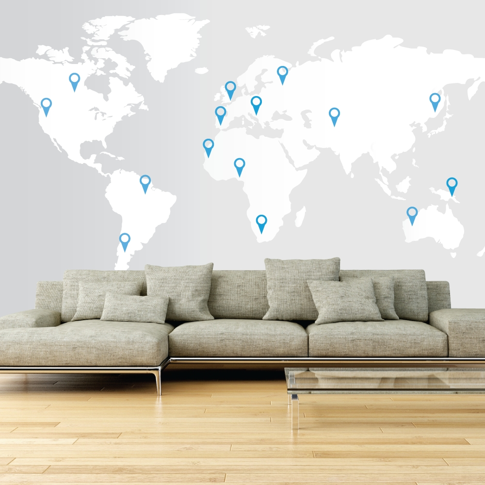 Wall Art Maps Of The World | Mrket Intended For Wall Art Map Of World (View 7 of 20)
