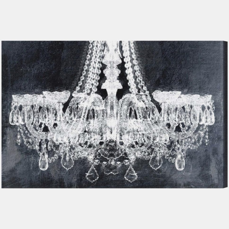 Wall Art: Stunning Chandelier Canvas Art Black And White – Super With Regard To Chandelier Wall Art (View 20 of 20)