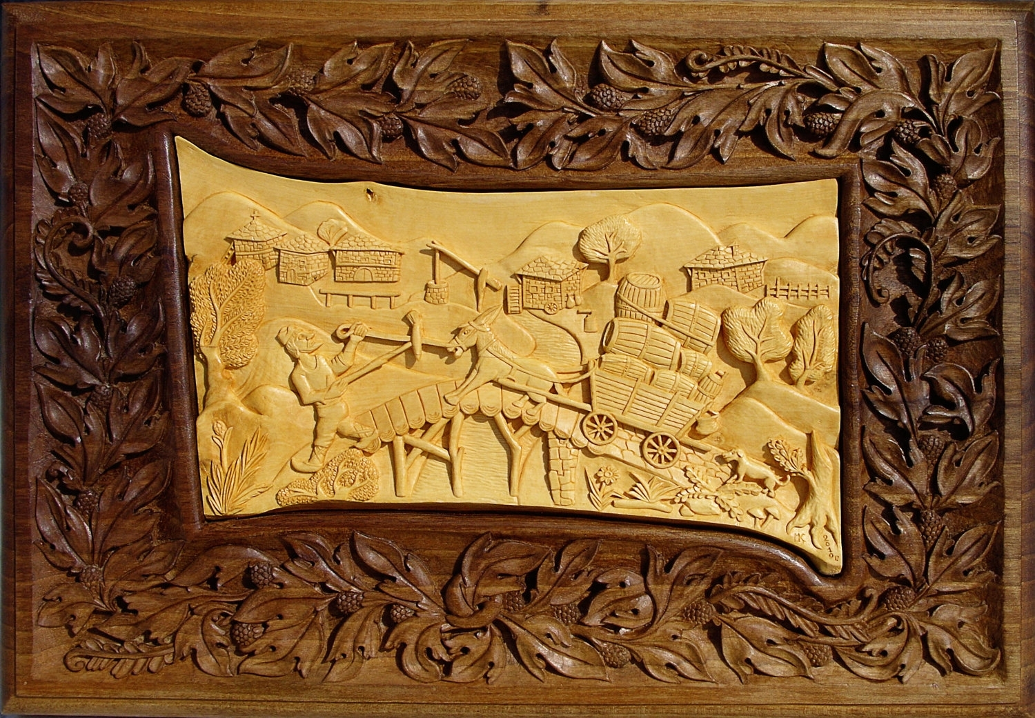 Wall Art Wood Carving Art Wall Decor Rustic Cabin By, Wood Carving throughout Carved Wood Wall Art (Image 19 of 20)