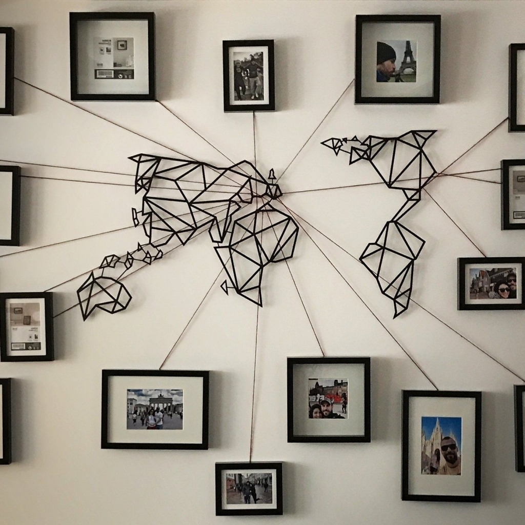 Wall Art World Map   Link Italia With Wall Art World Map (Photo 10 of 20)
