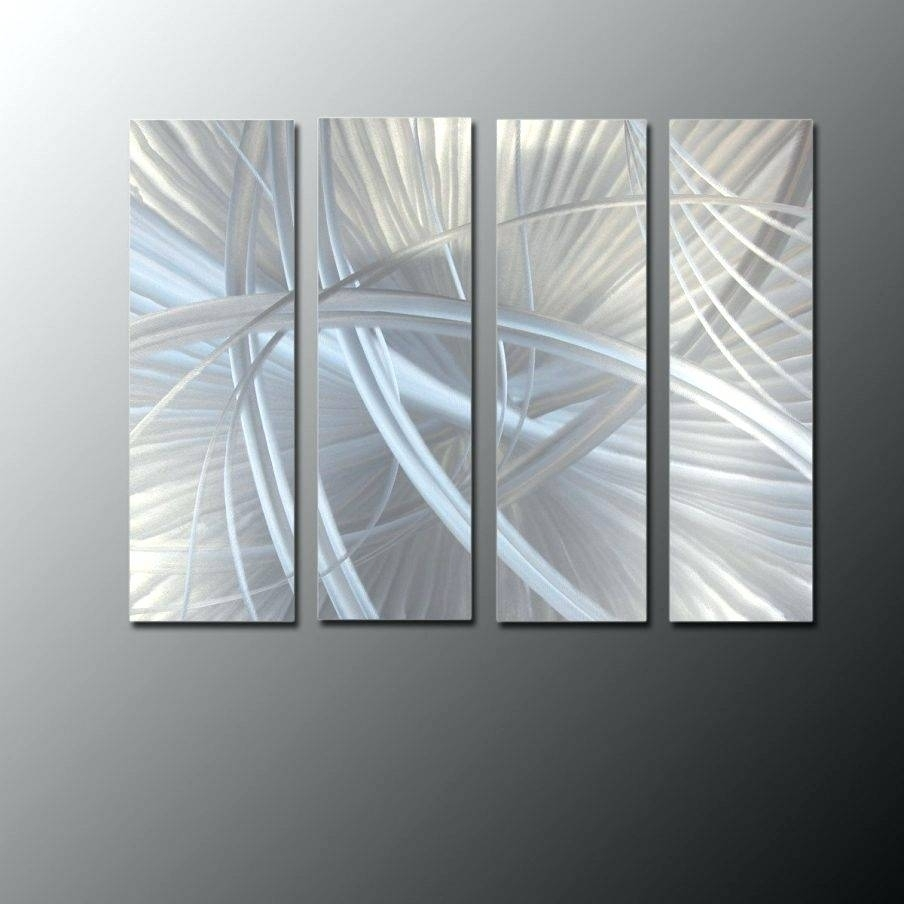Wall Arts Silver Satellite Decorative Wall Clock Silver Metal With with Overstock Wall Art (Image 19 of 20)