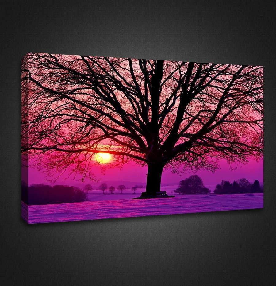Wall Canvas Prints Awesome Wall Art Designs Top Purple Canvas Wall With Purple Wall Art Canvas (Photo 2 of 20)