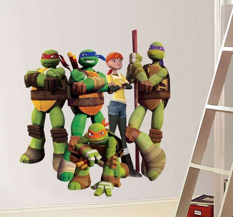 Wall Decal: Amazing Tmnt Wall Decals Teenage Mutant Ninja Turtles Regarding Ninja Turtle Wall Art (Photo 11 of 20)