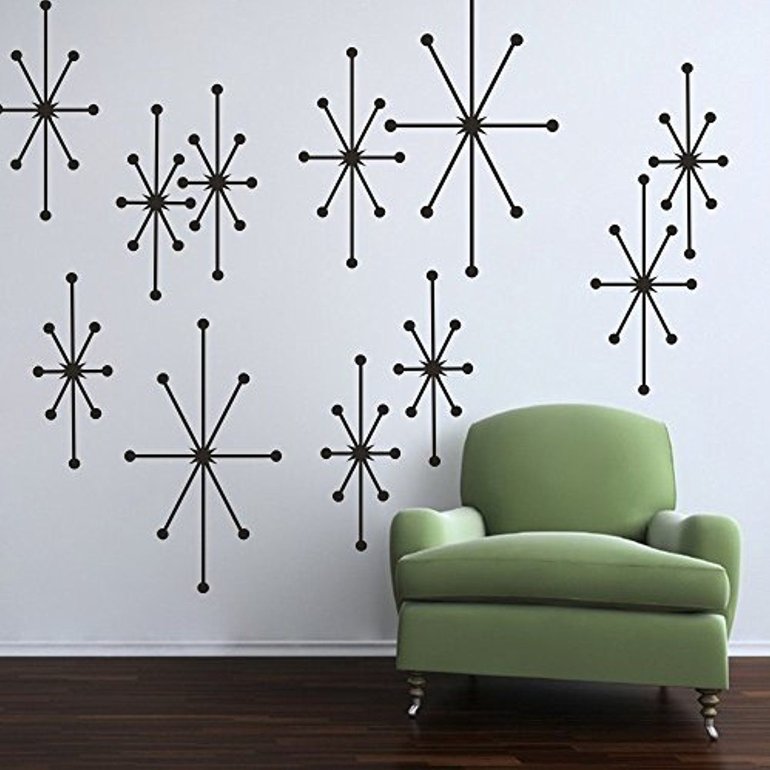 Wall Decal Decor Starburst Wall Decals Retro Wall Decor Custom Vinyl In Starburst Wall Art (View 19 of 20)