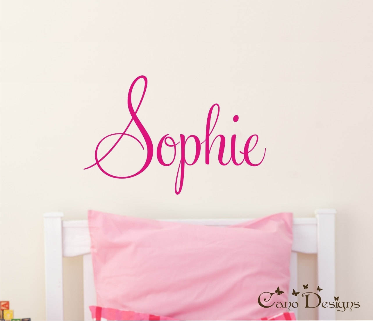 Wall Decal: Inspiration Name Wall Decals For Nursery Custom Name For Name Wall Art (Photo 18 of 20)