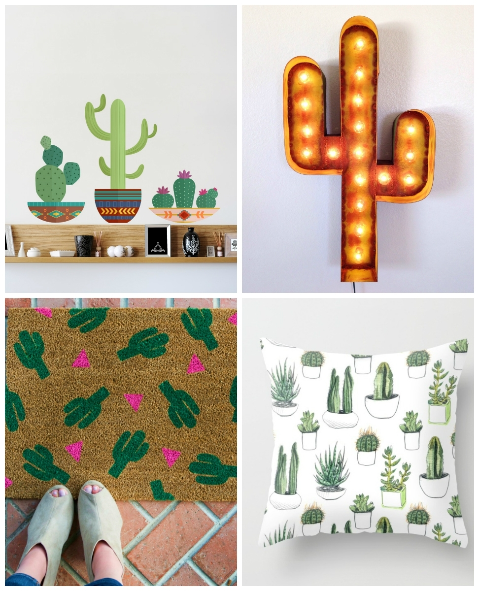 Wall Decals | Wallums Wall Decor within Cactus Wall Art (Image 17 of 20)