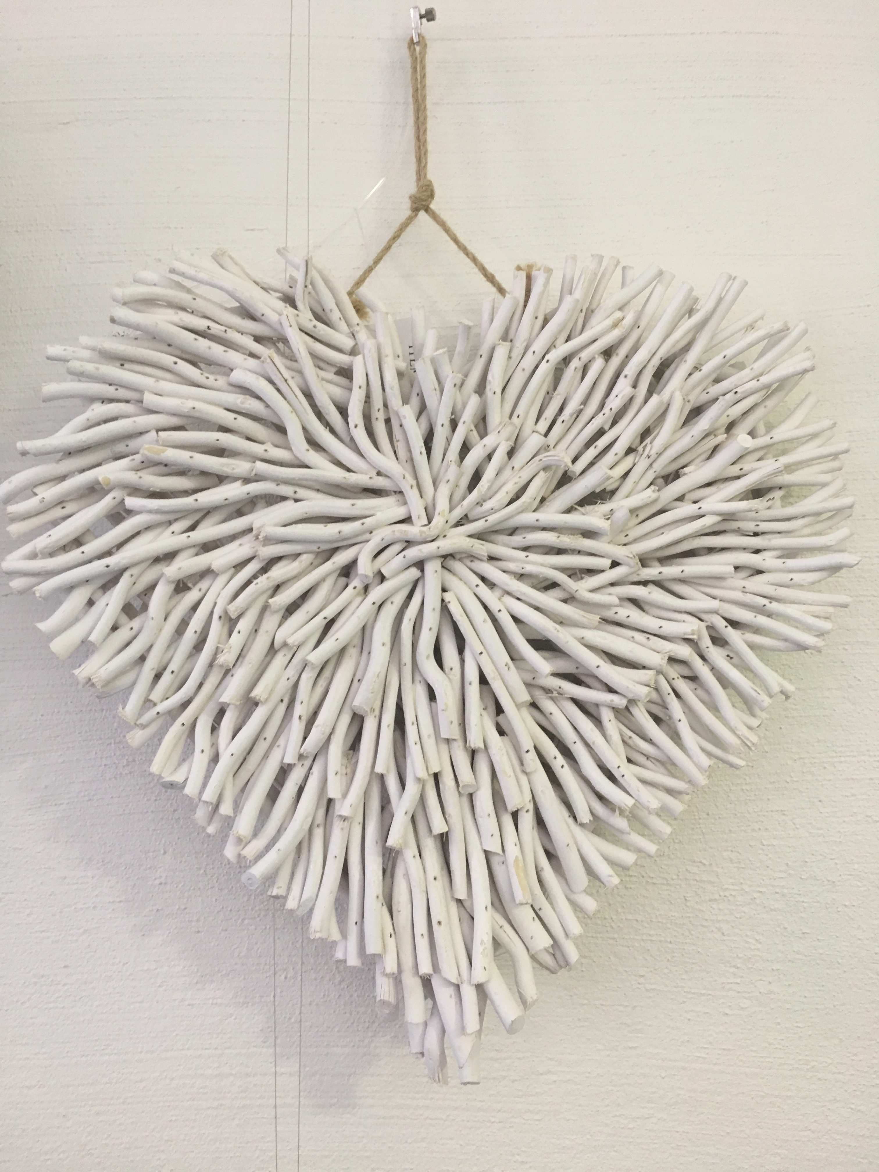 Wall Decor - Driftwood Heart White - Daydream Leisure Furniture intended for Driftwood Wall Art (Image 18 of 20)