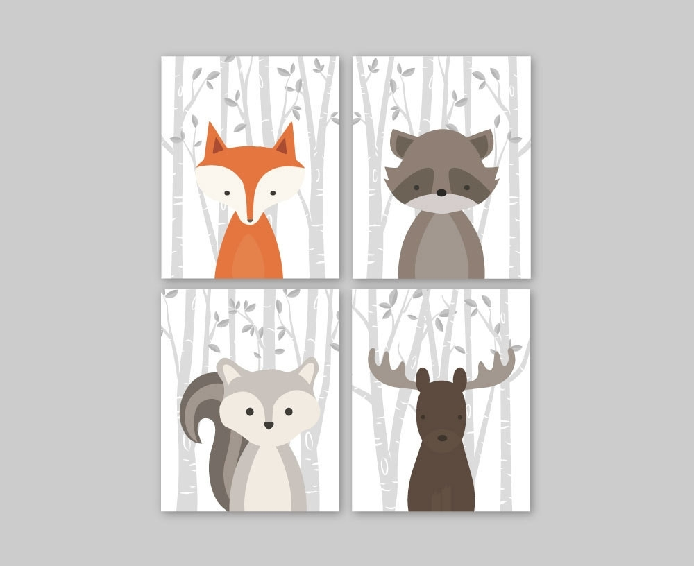 Wall Decor For Toddler Room Inspirational Baby Nursery Decor Baby With Woodland Nursery Wall Art (Photo 2 of 20)