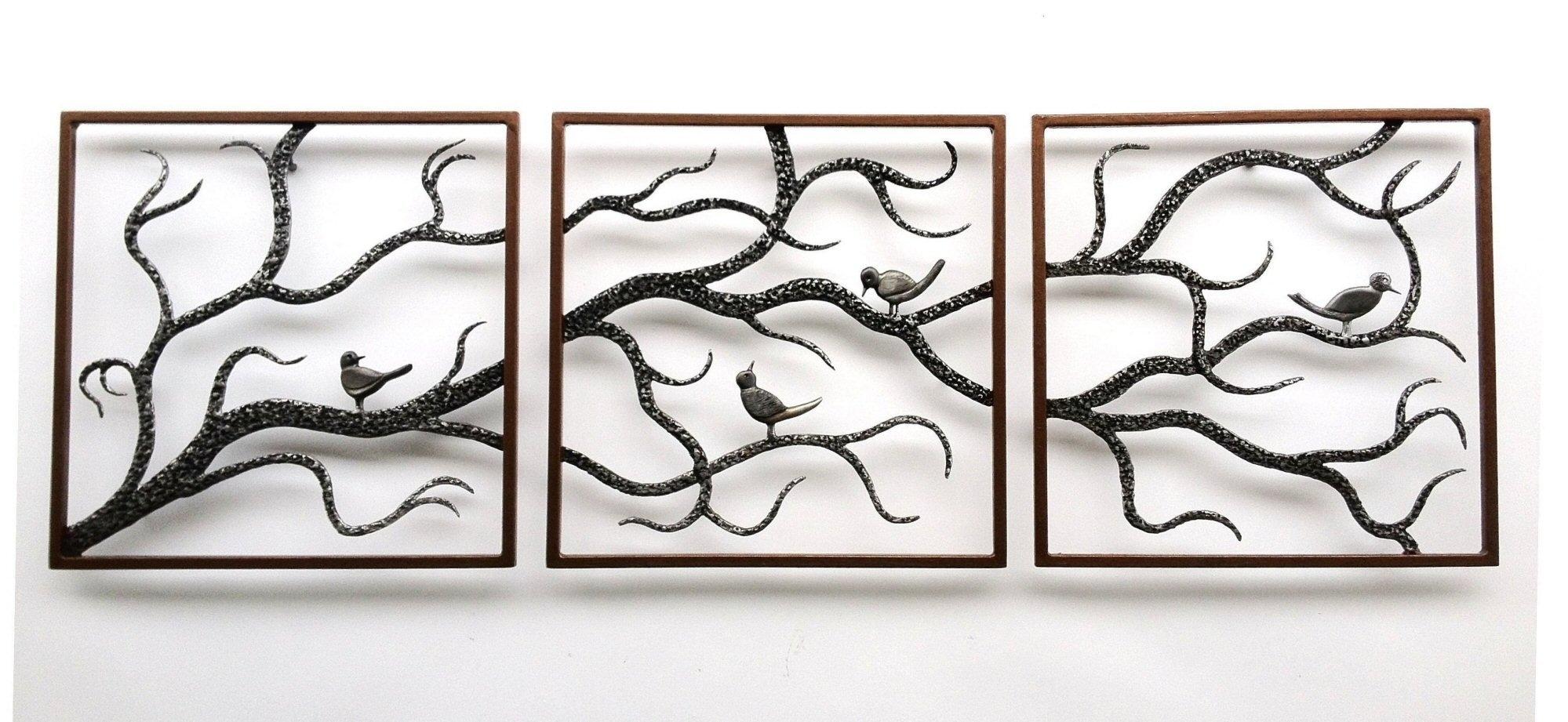 Wall Decor Metal Art Beautiful Gallery About Custom Signs Three Inside Metallic Wall Art (View 18 of 20)