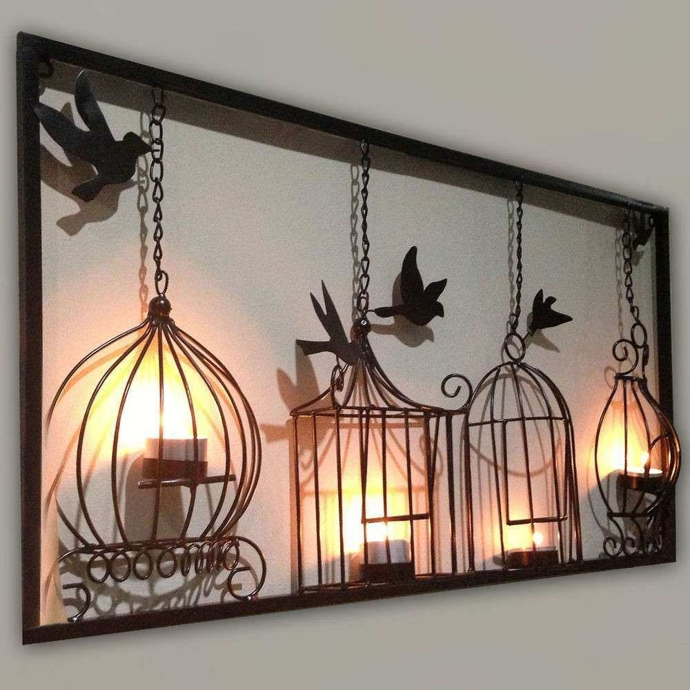Wall Decor Panel Unique Wall Art Decor Plaque Panels Metal Candle with Unique Wall Art (Image 18 of 20)