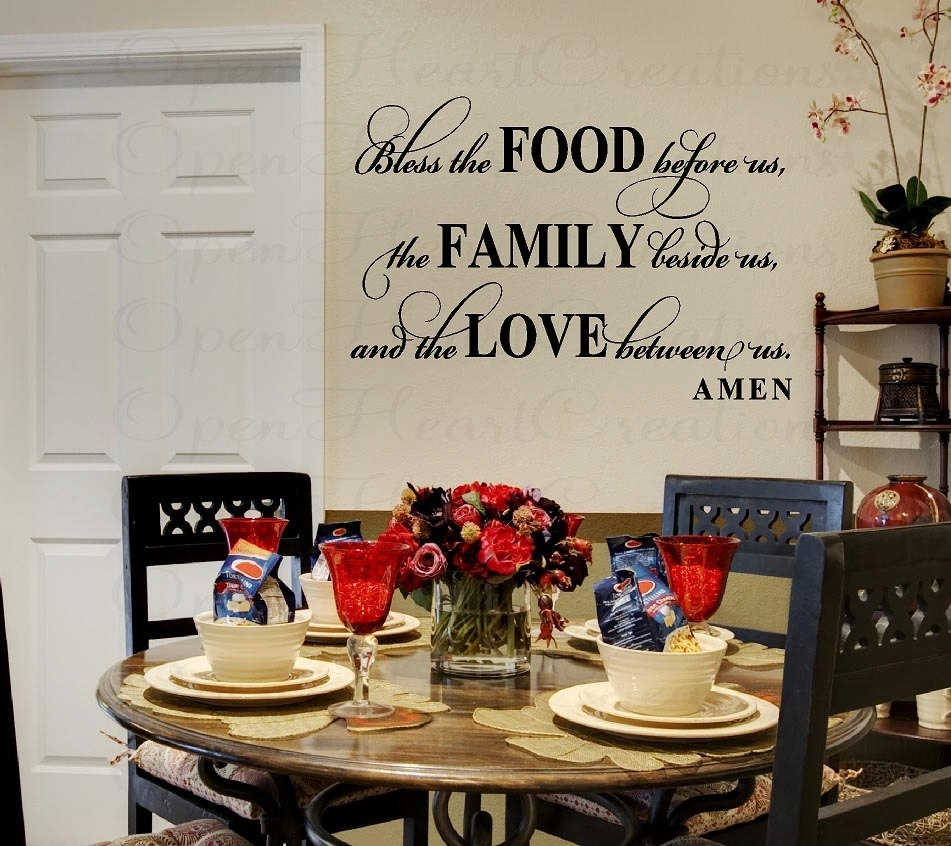 Wall Decor Stickers For Dining Room Cool • Recous Pertaining To Dining Room Wall Art (View 15 of 20)