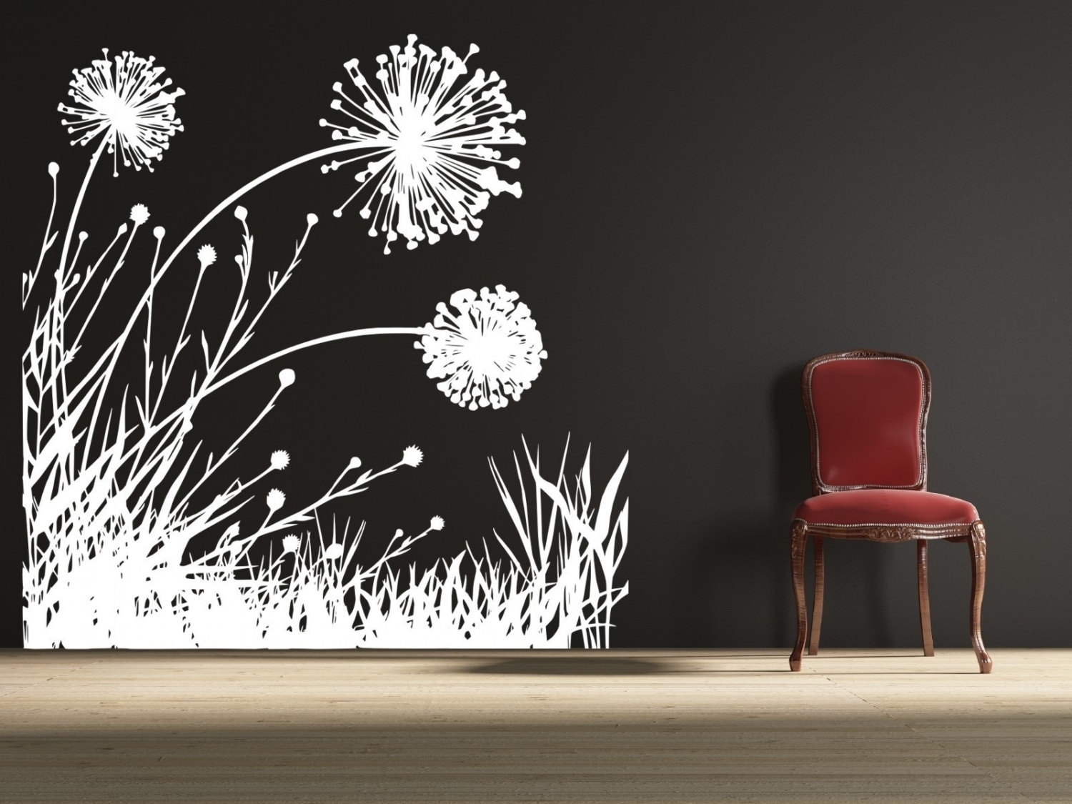 Wall Decoration. Dandelion Wall Decal - Wall Decoration And Wall Art throughout Dandelion Wall Art (Image 20 of 20)