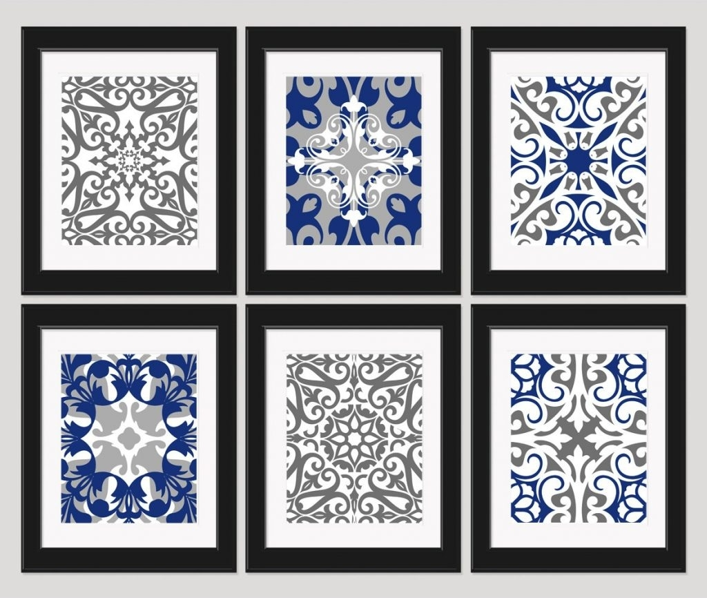 Wall Decoration. Navy Blue Wall Decor - Wall Decoration And Wall Art regarding Navy Blue Wall Art (Image 20 of 20)