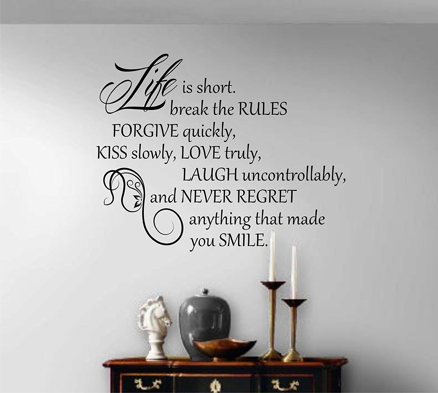 Wall Decoration. Wall Quote Stickers - Wall Decoration And Wall Art throughout Wall Art Quotes (Image 18 of 20)