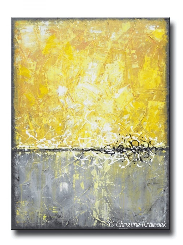Wall Decoration. Yellow And Grey Wall Decor - Wall Decoration And within Yellow and Gray Wall Art (Image 15 of 20)