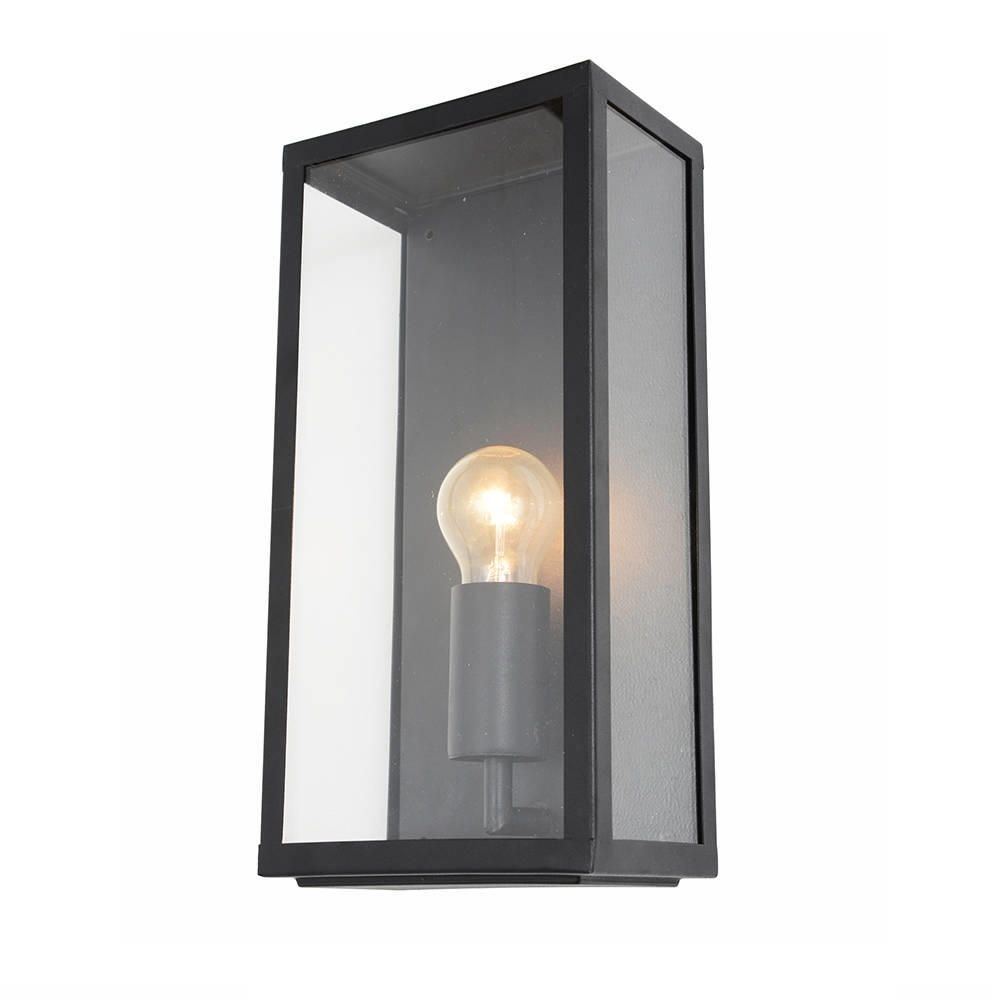 Wall Light - Outdoor Black Mersey Lantern Wall Light in Industrial Outdoor Lanterns (Image 19 of 20)