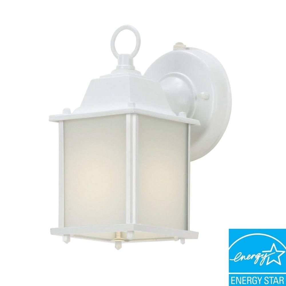 Wall Mount Lantern Outdoor Cube Light Patio Porch Dusk To Dawn with Outdoor Lanterns With Photocell (Image 18 of 20)