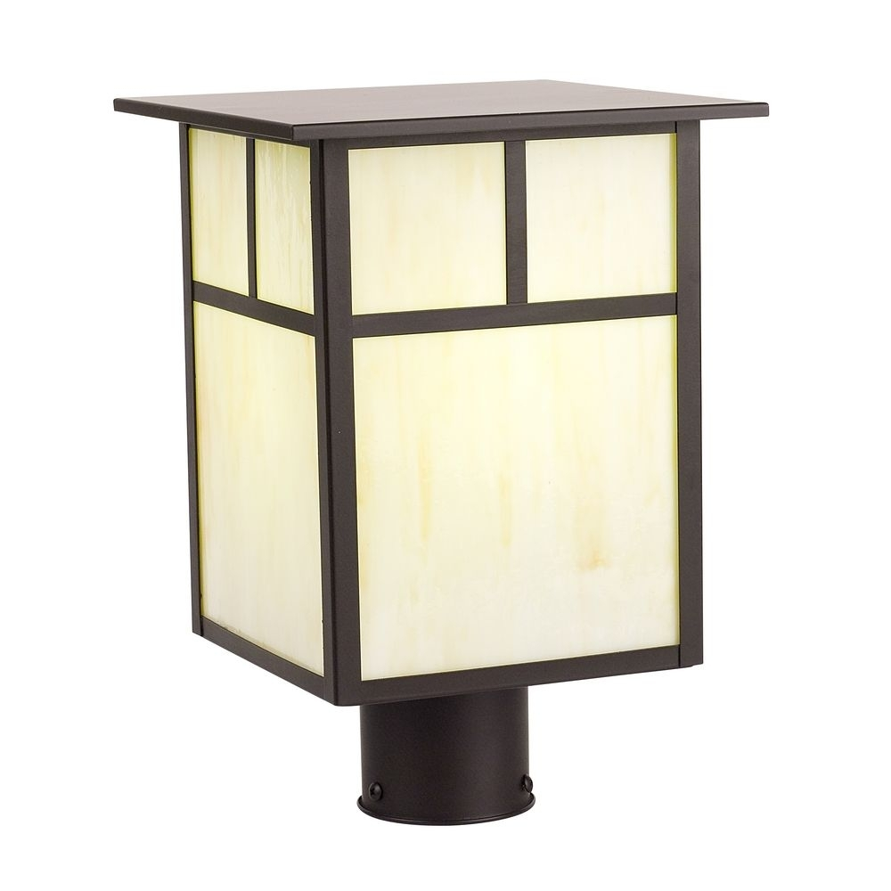 Wall Mount Outdoor Fans Craftsman Style Outdoor Lamp Post Gold with Outdoor Lanterns For Posts (Image 20 of 20)