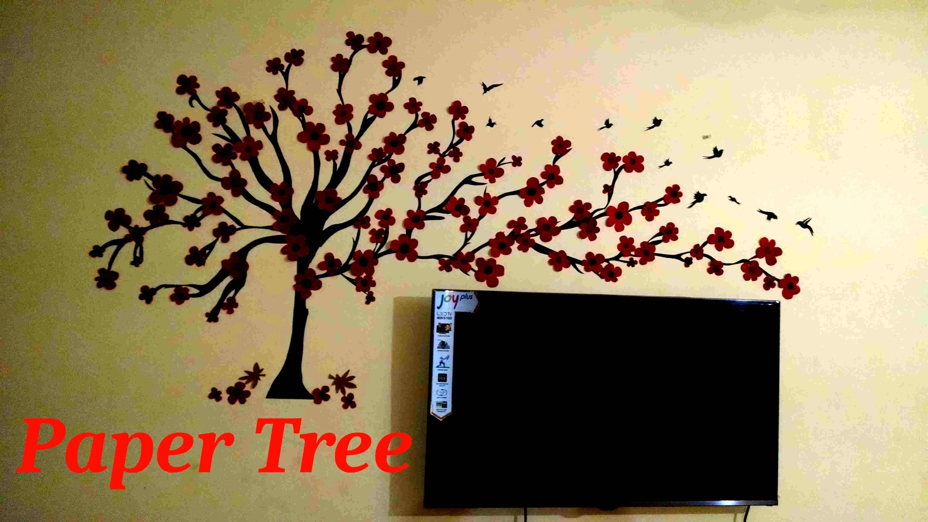Wall Tree(Paper Wall Art)   Youtube In Paper Wall Art (Photo 19 of 20)