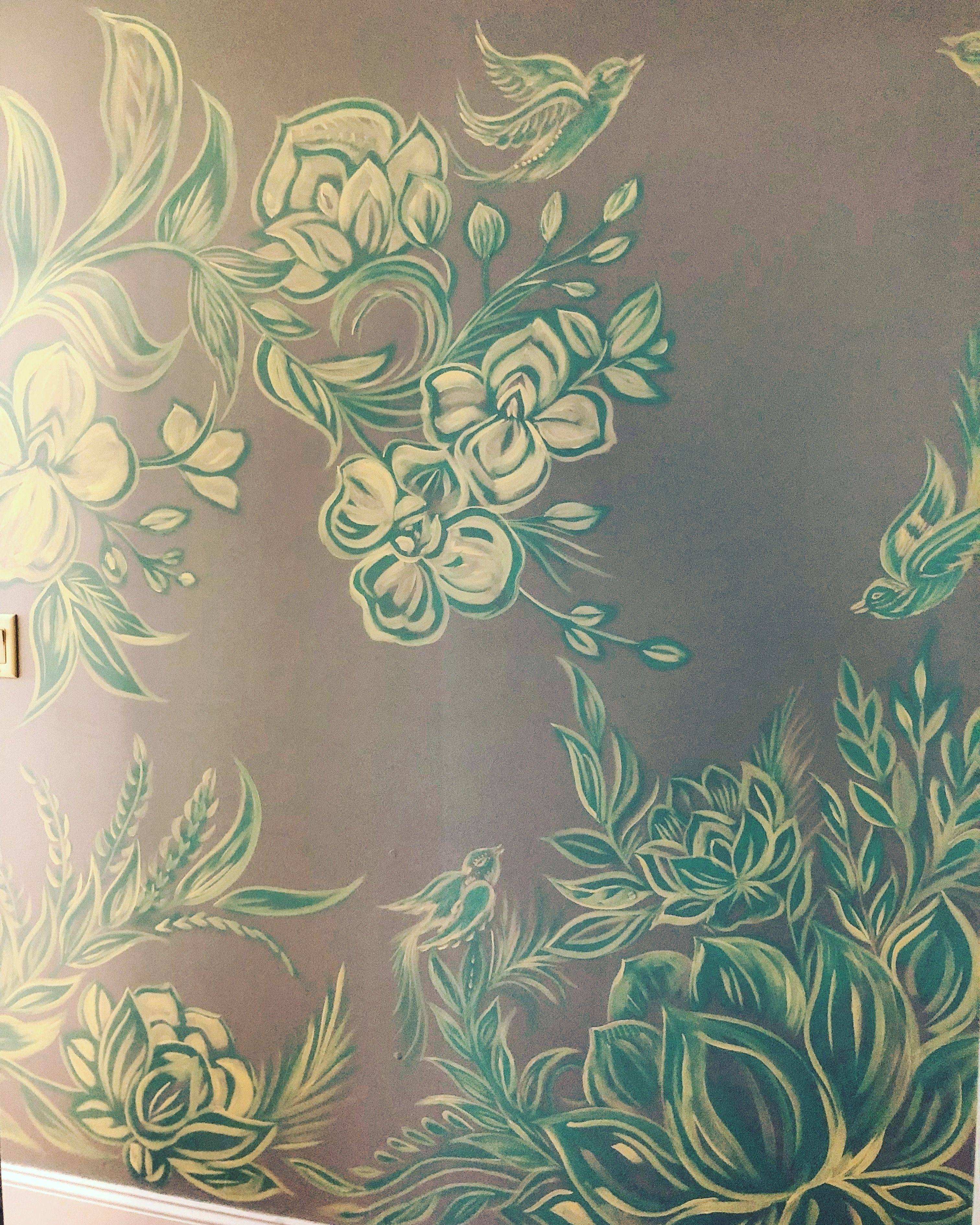 Wallart #mural #floral #decor #interior #lotus #theeyeofhenna intended for Henna Wall Art (Image 20 of 20)