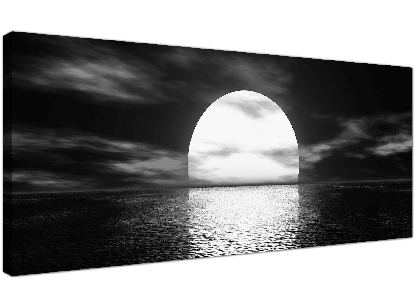 Wallfillers Modern Black And White Canvas Wall Art Of A Tropical regarding Black And White Canvas Wall Art (Image 20 of 20)