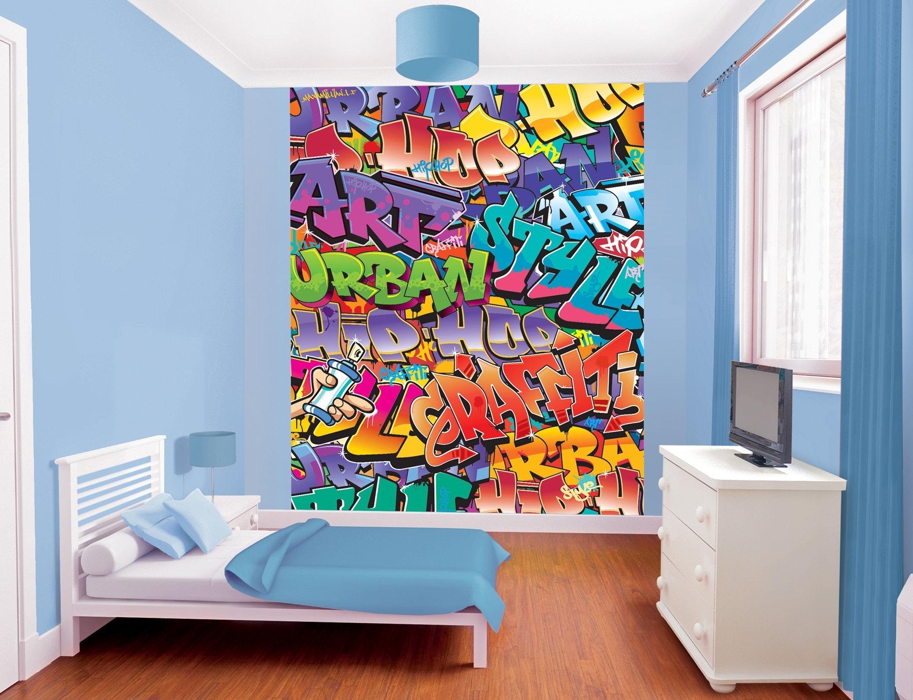 Wallpops! Walltastic Wall Art Graffiti Wall Mural | Wayfair Throughout Graffiti Wall Art (View 13 of 20)
