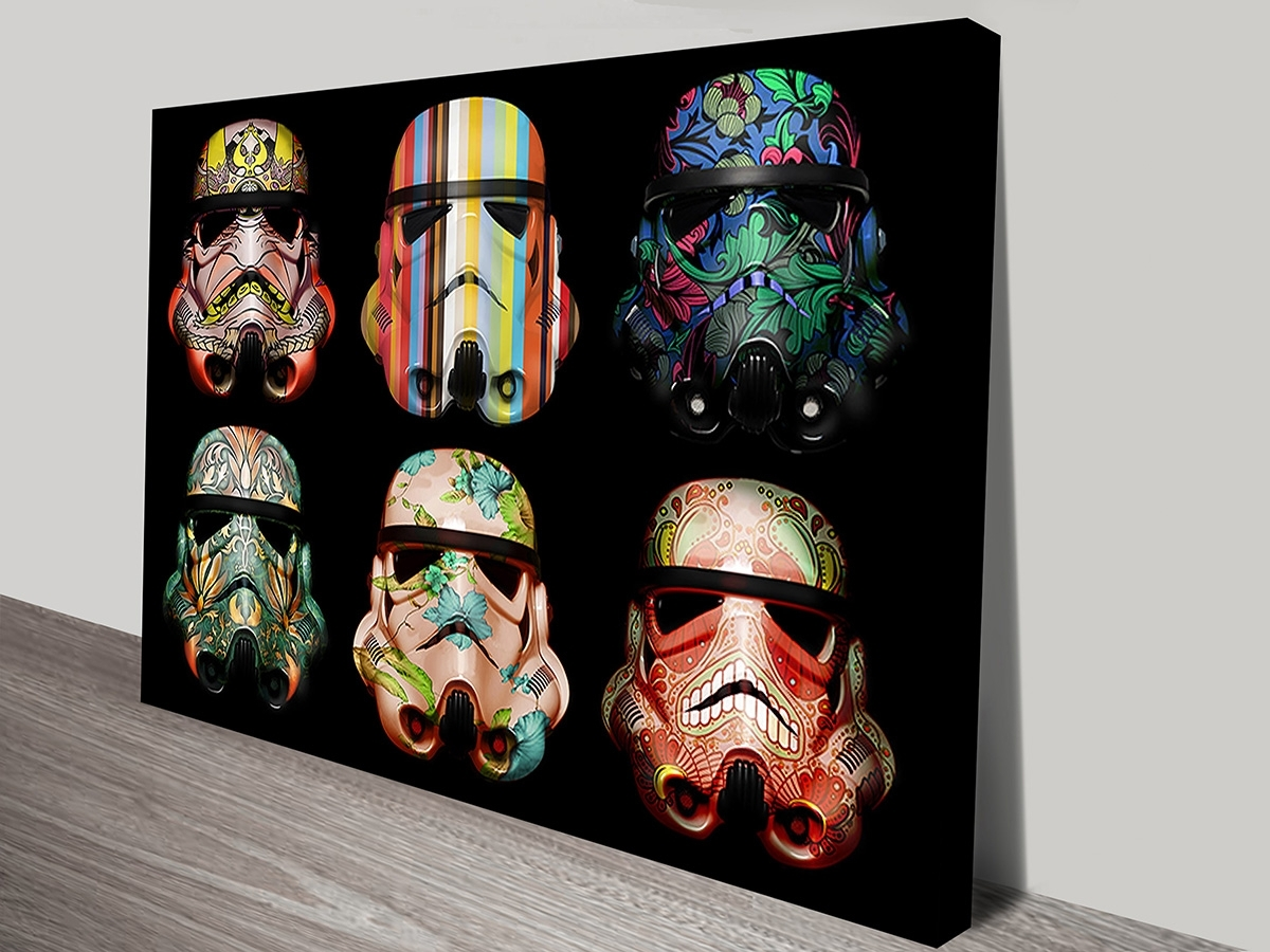 Warhol Style Star Wars Stormtrooper Pop Art Prints On Canvas With Regard To Star Wars Wall Art (View 20 of 20)