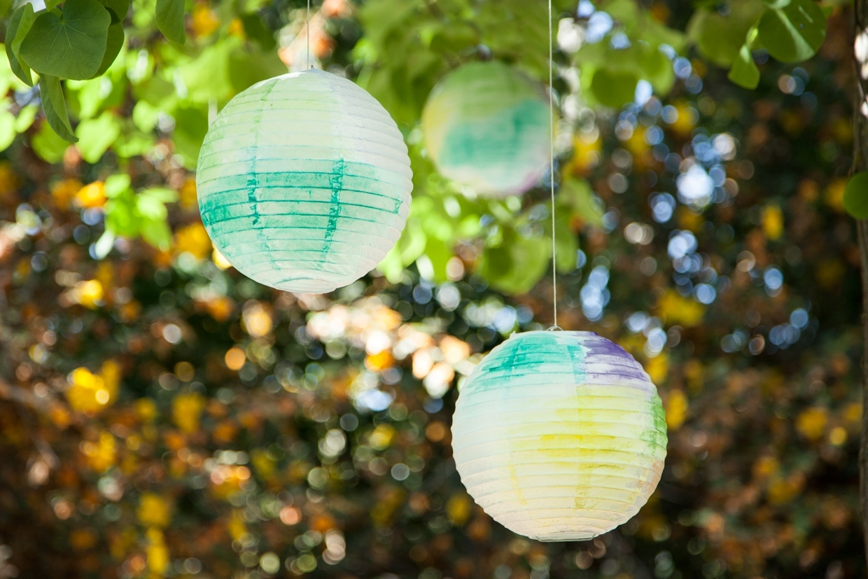 Watercolor Paper Lanterns | Maker Crate intended for Outdoor Paper Lanterns (Image 19 of 20)