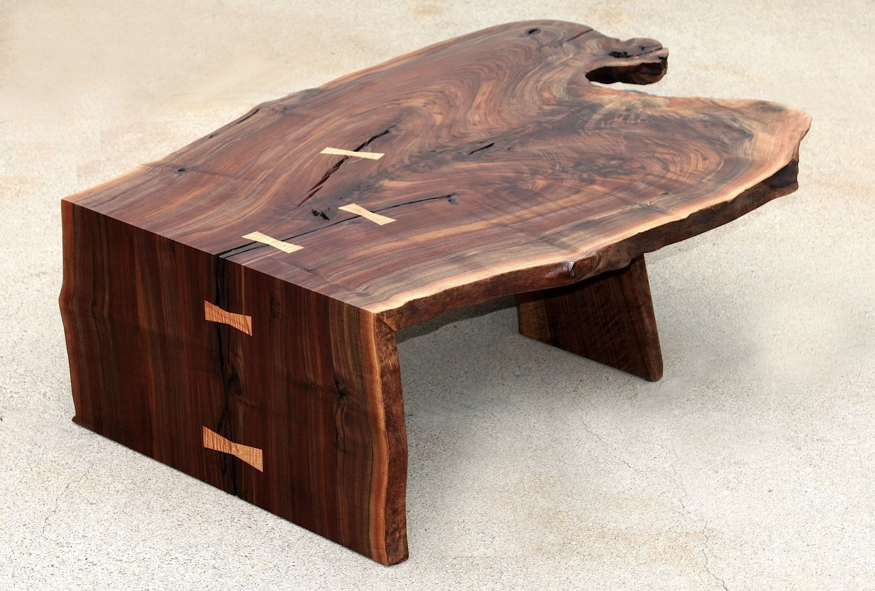 Waterfall Coffee Table Hand Made Steel And Wood14 Enchanting Pertaining To Waterfall Coffee Tables (Photo 16 of 30)