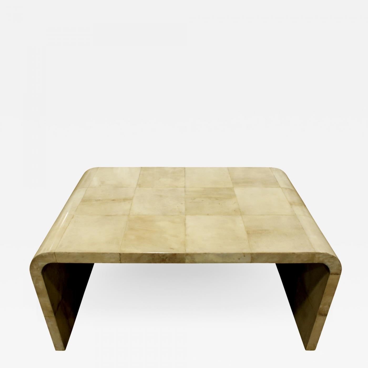 Waterfall Coffee Table In Boxed Lacquered Goatskin 1970S with Square Waterfall Coffee Tables (Image 23 of 30)