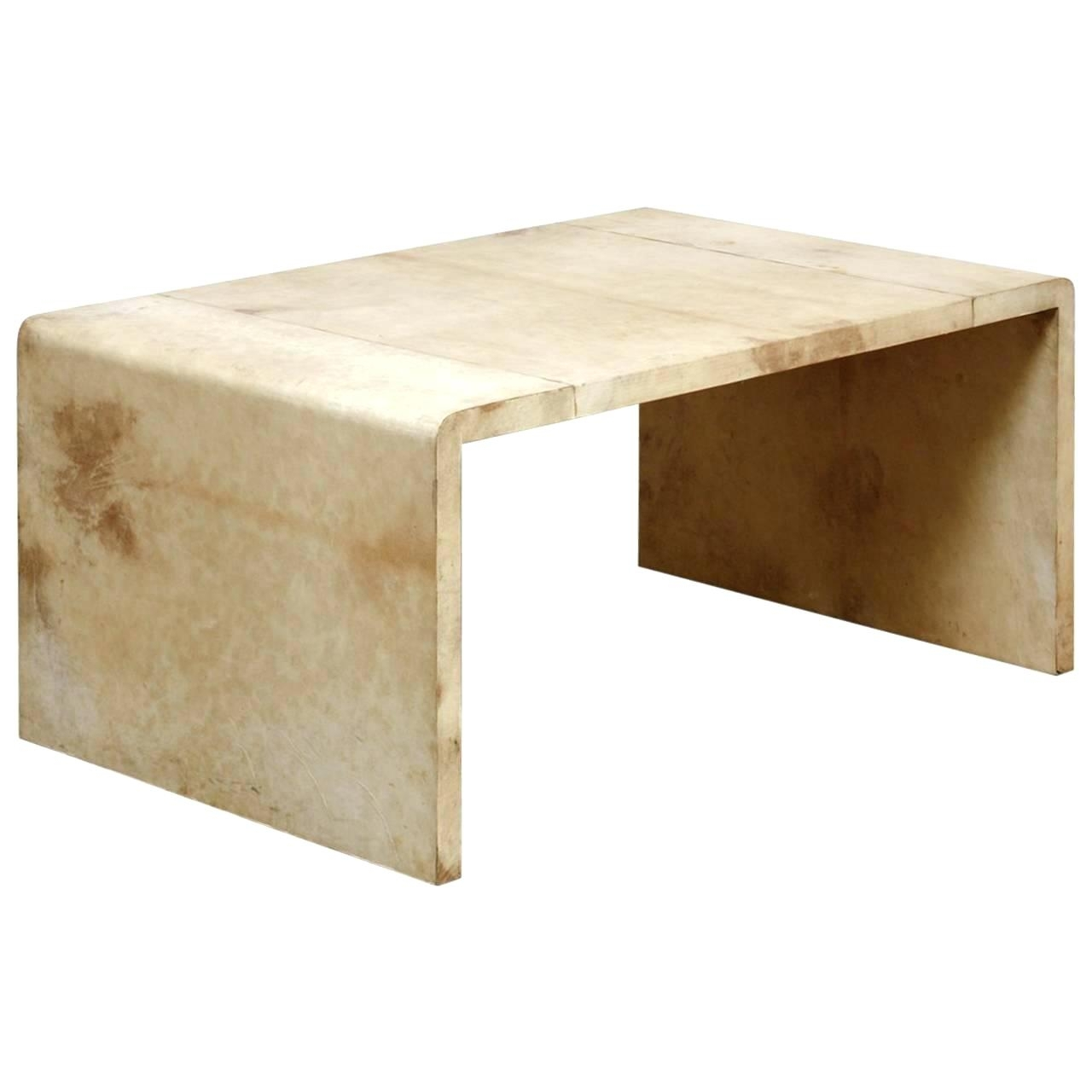 Waterfall Coffee Table Jean Frank Style Goatskin For Sale Square with Square Waterfall Coffee Tables (Image 24 of 30)