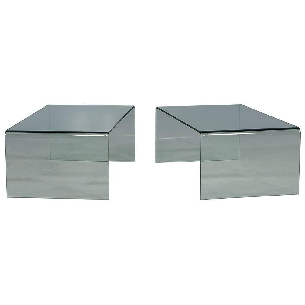 Waterfall Glass Cocktail Table | Degree Angle, Glass Table And Coffee throughout Square Waterfall Coffee Tables (Image 29 of 30)