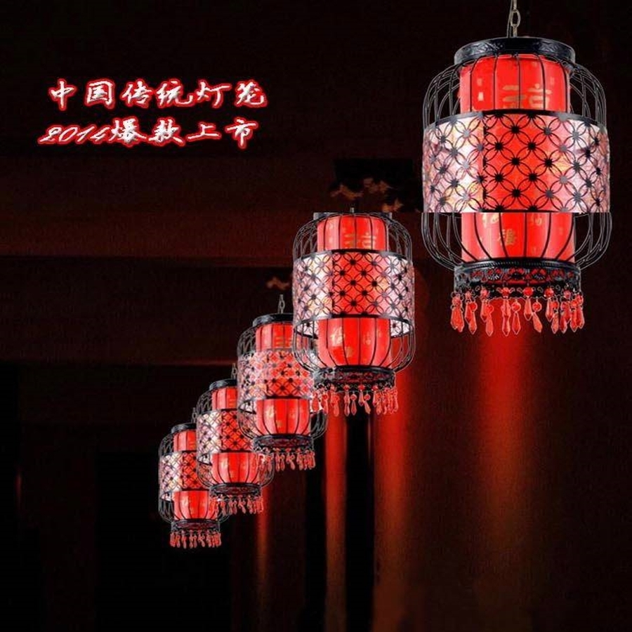 Waterproof Outdoor Balcony Red Lanterns Villa Hotel New Chinese Within Waterproof Outdoor Lanterns (Photo 9 of 20)