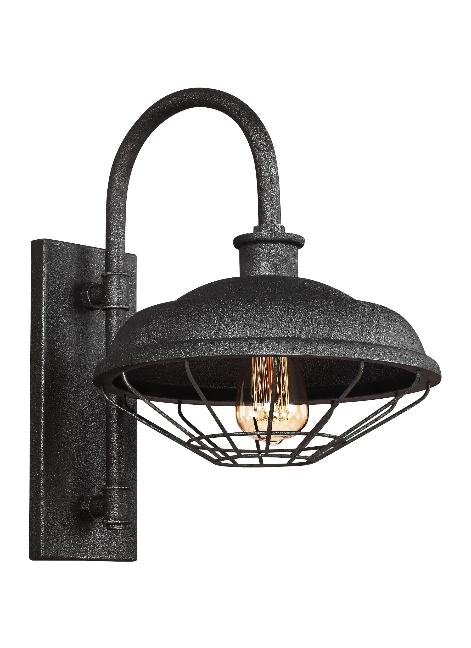 Wb1828Sgm,1   Light Indoor / Outdoor Wall Lantern,slate Grey Metal With Regard To Outdoor Grey Lanterns (Photo 13 of 20)