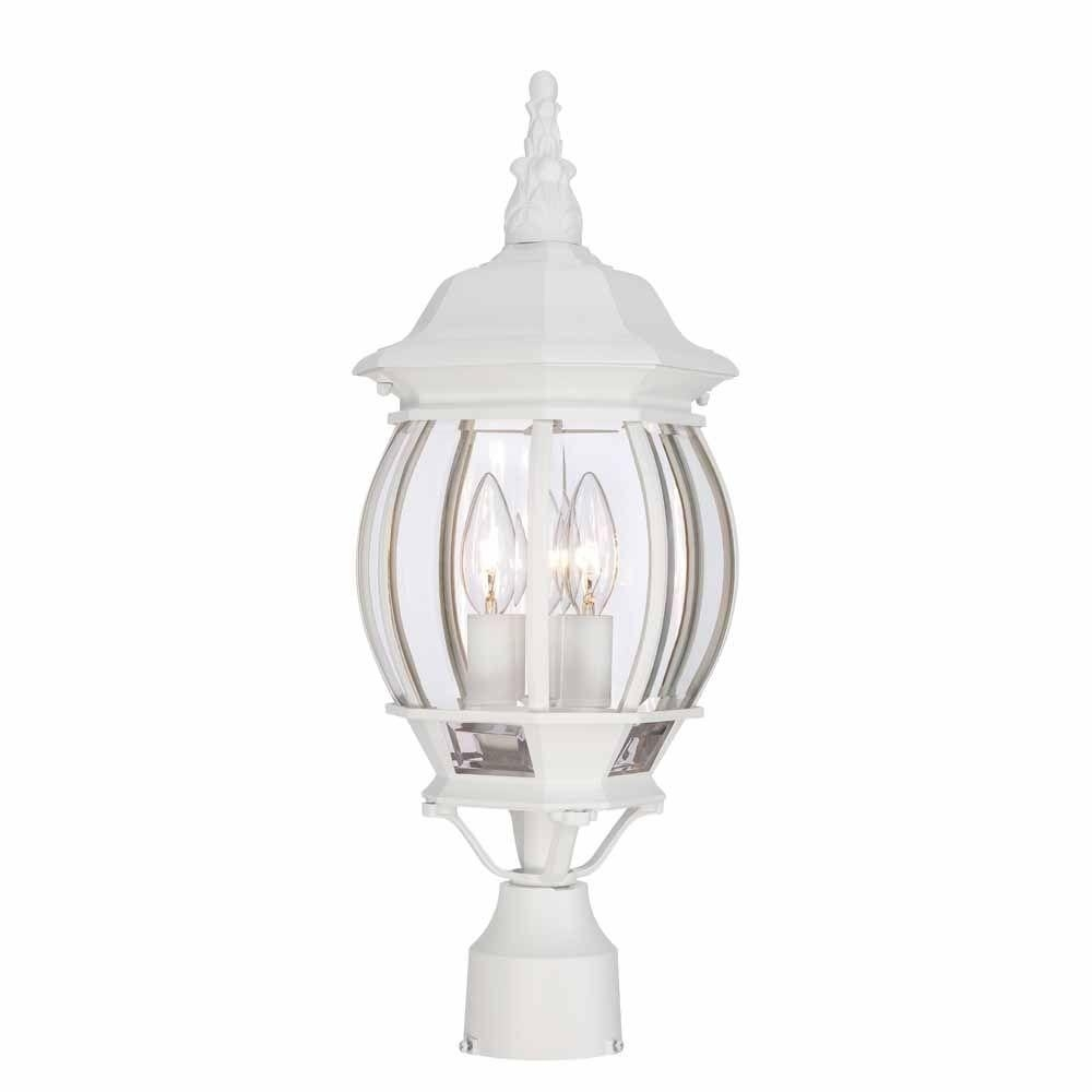 Weather Resistant – White – Post Lighting – Outdoor Lighting – The For Outdoor Weather Resistant Lanterns (View 19 of 20)