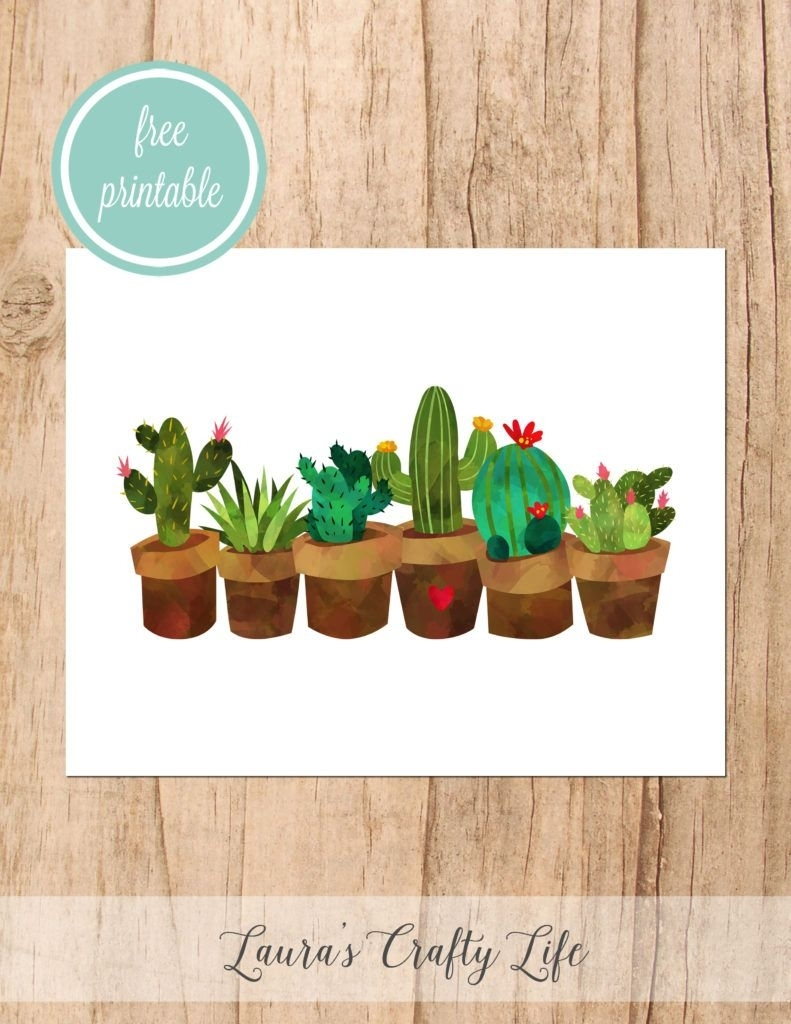 Welcome | Laura's Crafty Life | Pinterest | Cactus Wall Art, Free for Cactus Wall Art (Image 20 of 20)
