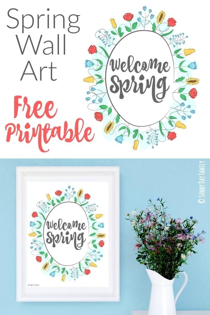 Welcome Spring: Free Printable Wall Art | Mantle, Free Printable And With Regard To Free Printable Wall Art Decors (View 3 of 20)