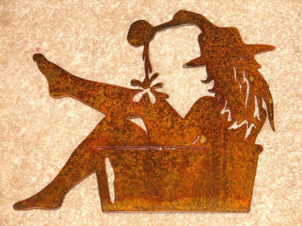 Western Wall Art Perfect Arts Decals Plaque Cowgirl   Mycraftingbox In Western Wall Art (Photo 4 of 20)