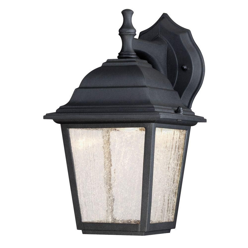 Westinghouse 1-Light Black Outdoor Integrated Led Wall Mount Lantern inside Outdoor Lanterns With Photocell (Image 19 of 20)