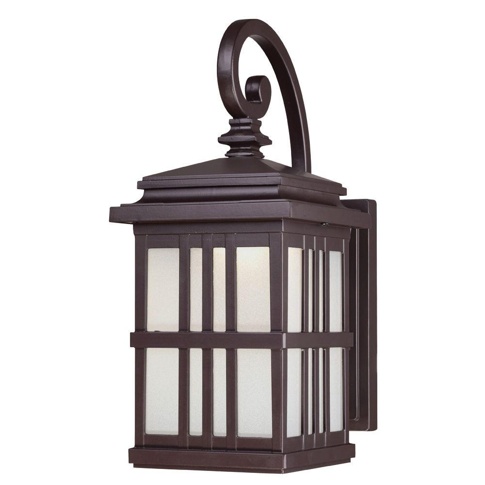 Westinghouse 1 Light Oil Rubbed Bronze Outdoor Integrated Led Wall In Outdoor Oil Lanterns (Photo 5 of 20)