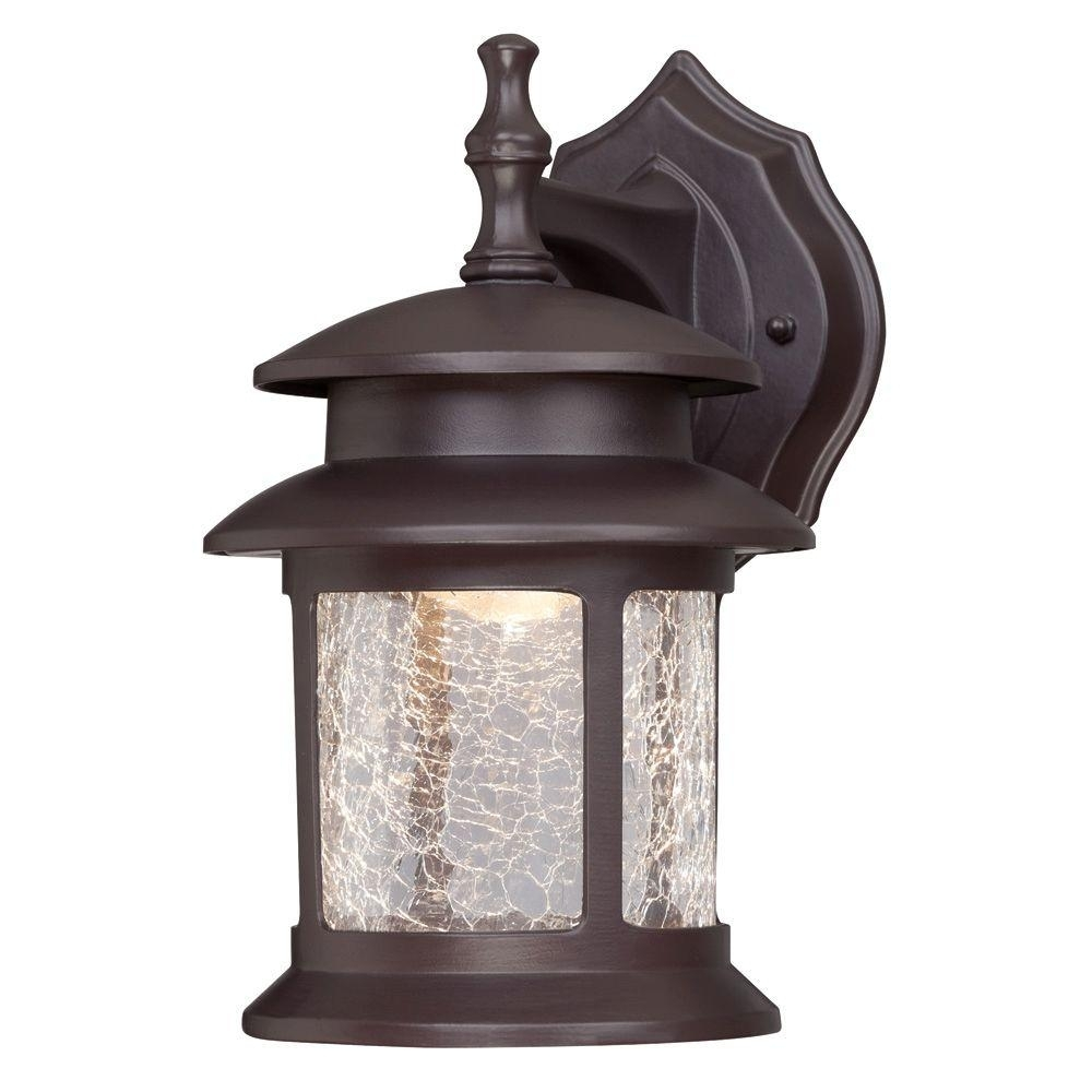 Westinghouse 1 Light Oil Rubbed Bronze Outdoor Integrated Led Wall Regarding Outdoor Oil Lanterns (Photo 7 of 20)
