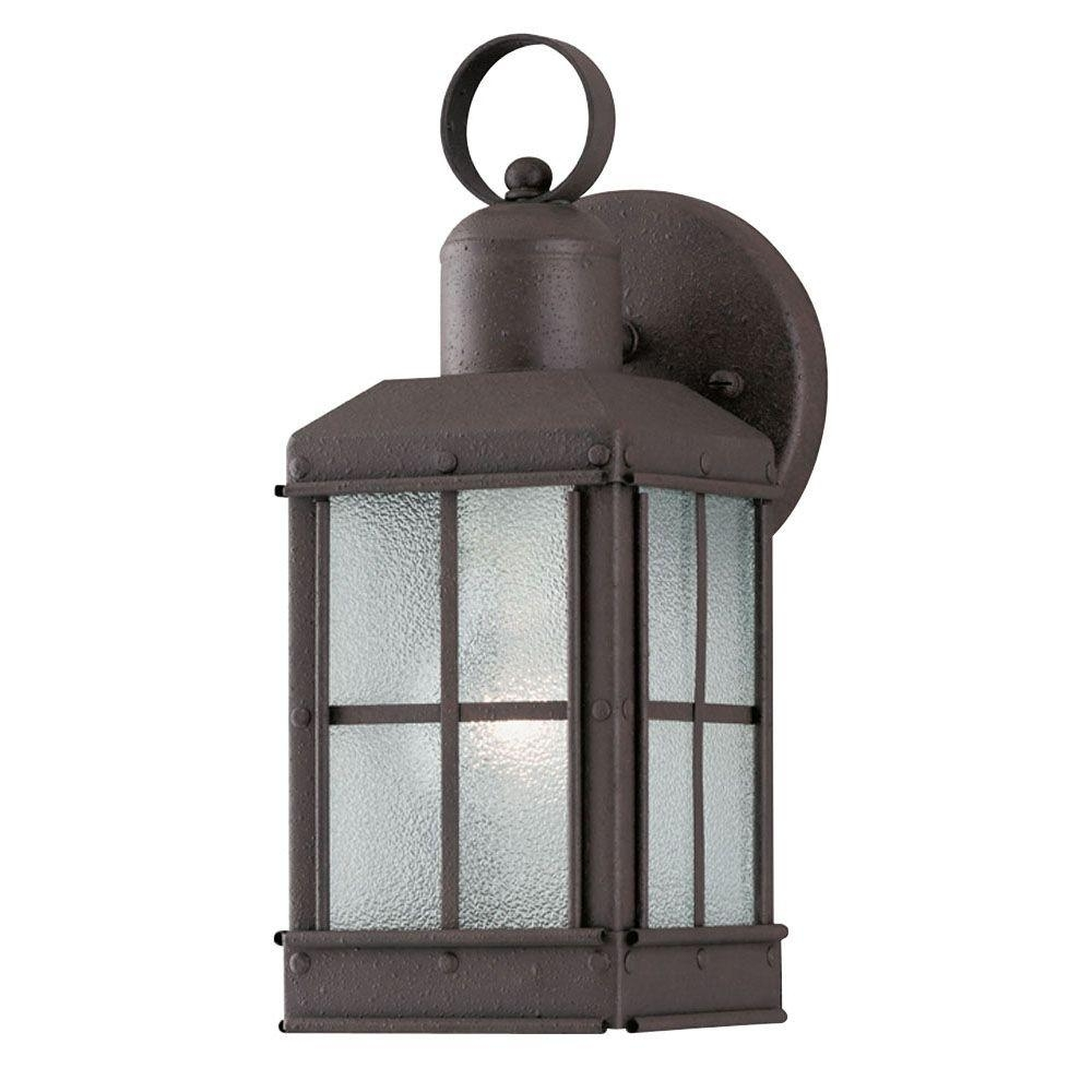 Westinghouse 1 Light Outdoor Textured Rust Patina Wall Lantern With Inside Tall Outdoor Lanterns (Photo 16 of 20)