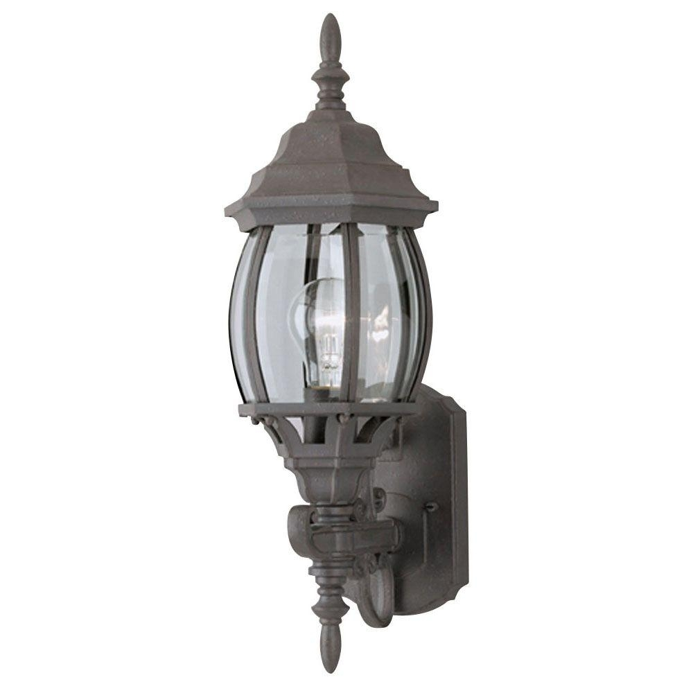 Westinghouse 1-Light Textured Rust Patina Exterior Wall Lantern With regarding Elegant Outdoor Lanterns (Image 20 of 20)
