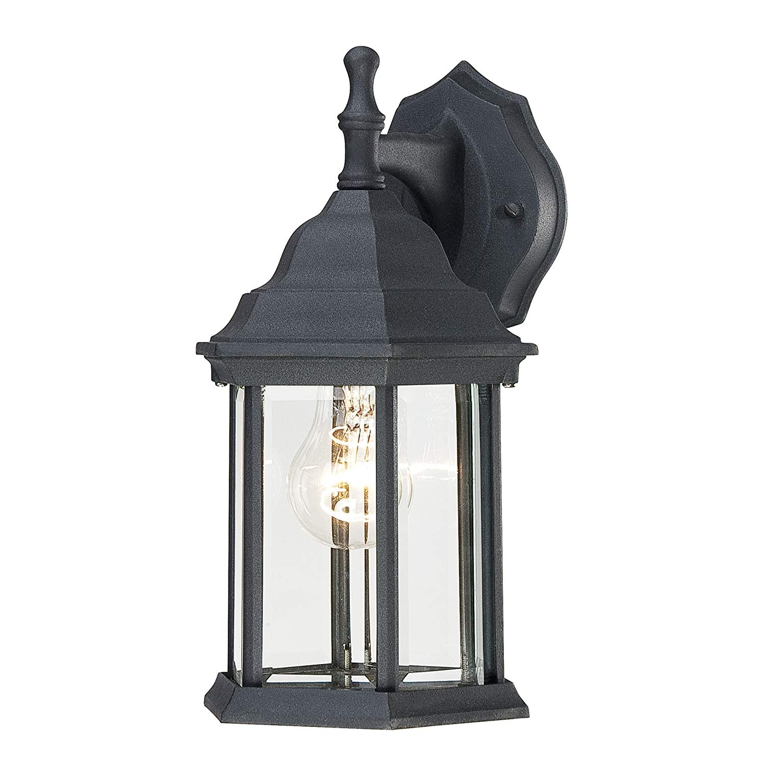 Westinghouse 6783100 One Light Exterior Wall Lantern, Textured Black For Outdoor Lanterns Lights (Photo 19 of 20)