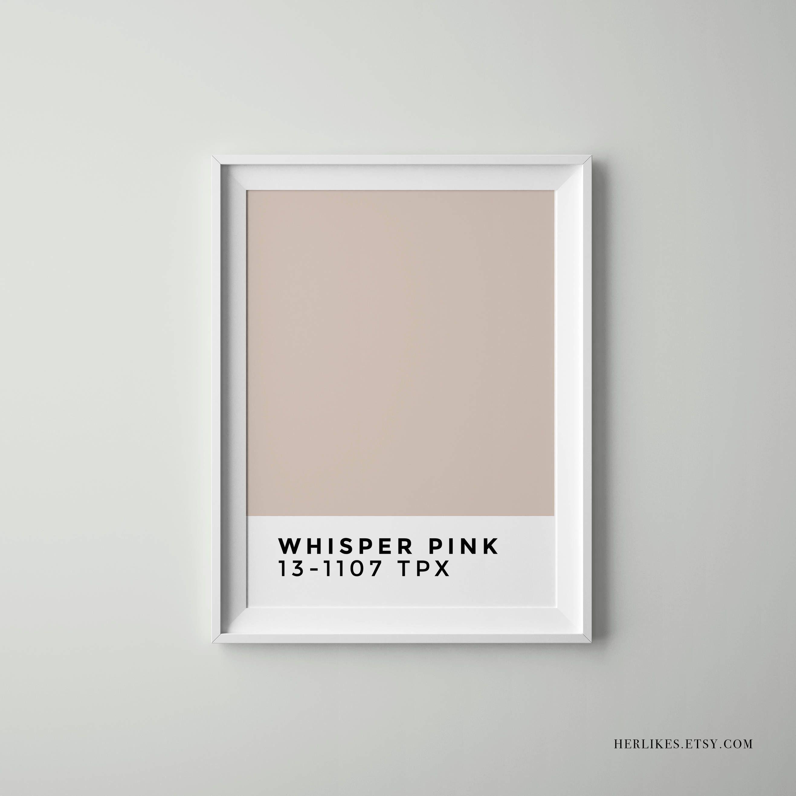 Whisper Pink, Pantone, Minimalist Home Decor, Scandinavian Decor Throughout Tumblr Wall Art (View 6 of 20)
