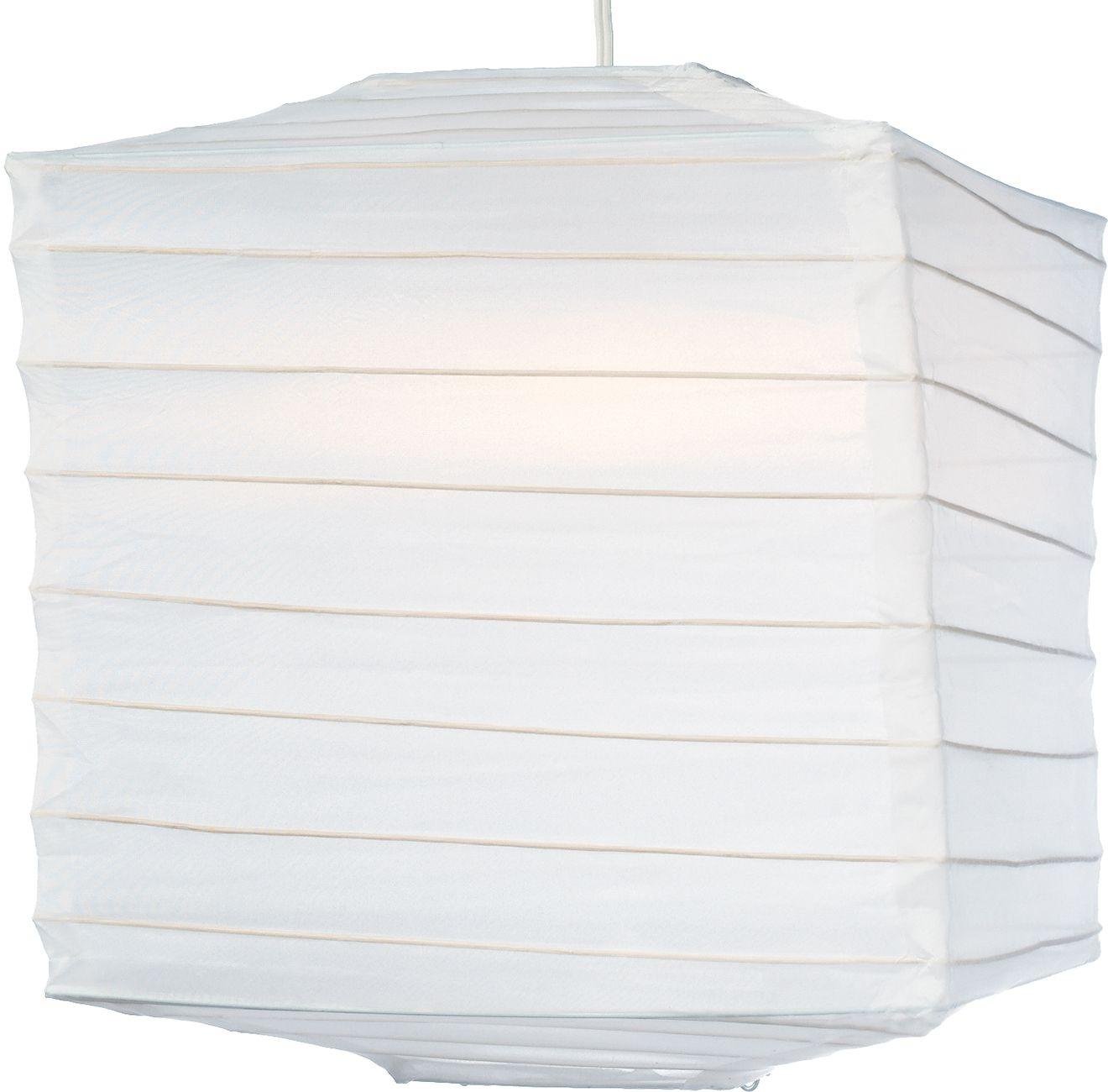 White 10 Inch Square Outdoor Nylon Lantern   Luna Bazaar With Regard To Outdoor Nylon Lanterns (Photo 11 of 20)