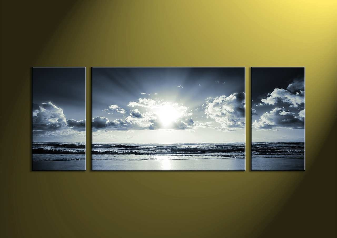 White Canvas Painting Beautiful Simple 20 Panoramic Wall Art within Panoramic Wall Art (Image 20 of 20)