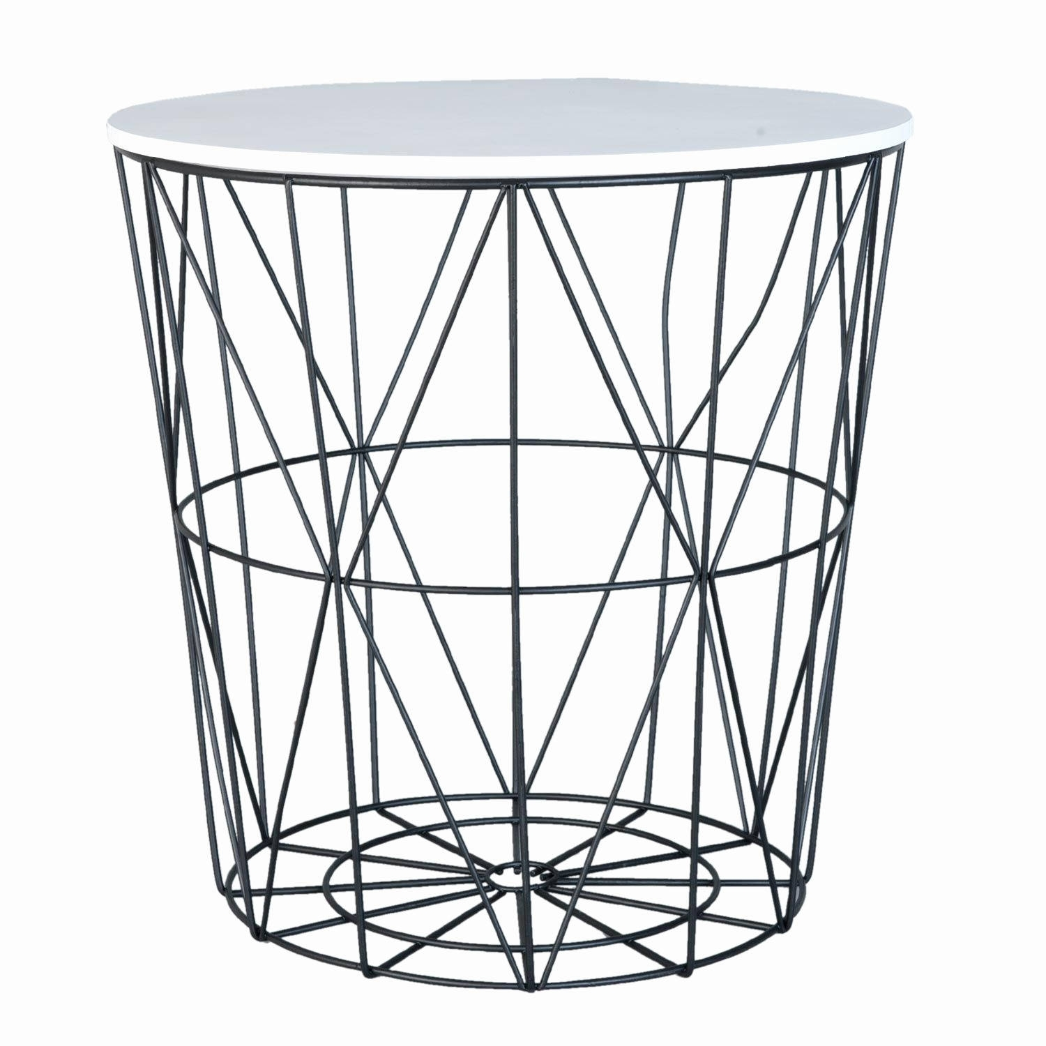 White Coffee Table Black Legs Awesome White Black Geometric Side In Black Wire Coffee Tables (Photo 13 of 30)