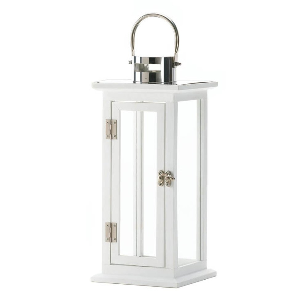 White Lantern Candle, Antique Decorative Iron Highland Candle With White Outdoor Lanterns (View 3 of 20)