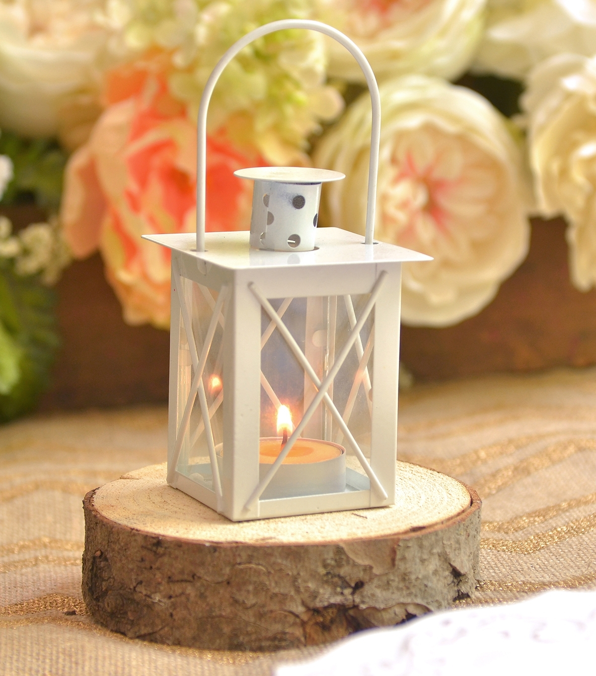 White Lantern Favor | Joann Inside Joanns Outdoor Lanterns (Photo 14 of 20)